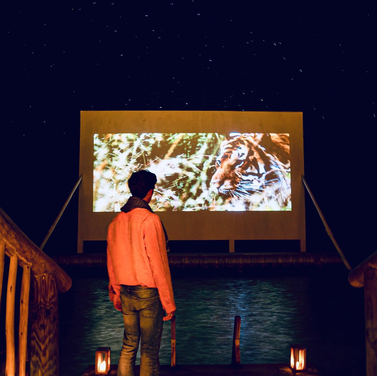 To Hunt a Tiger Premiered at World's First Overwater Cinema at Soneva Jani, The Maldives