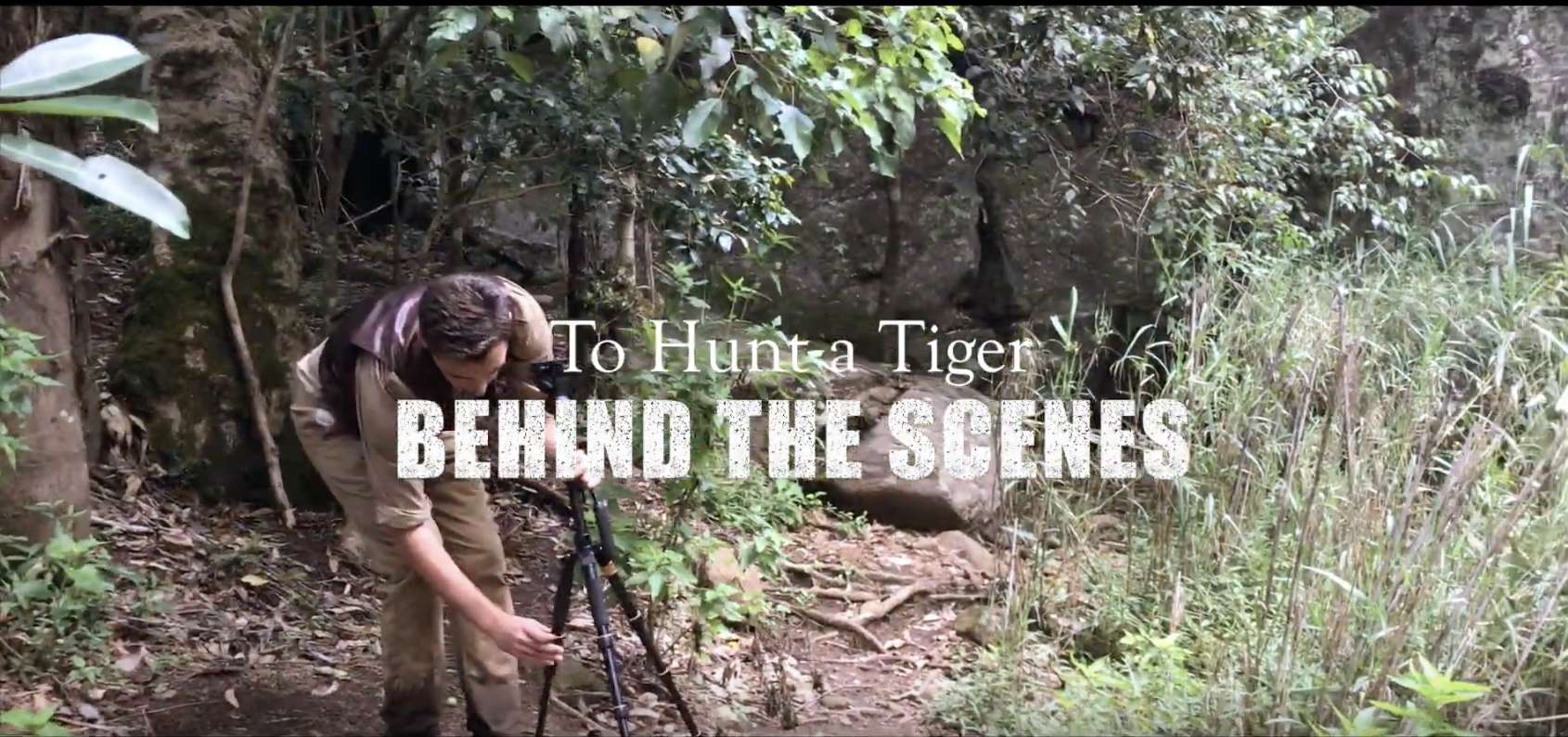 New behind the scenes video of the making of 'To Hunt a Tiger'