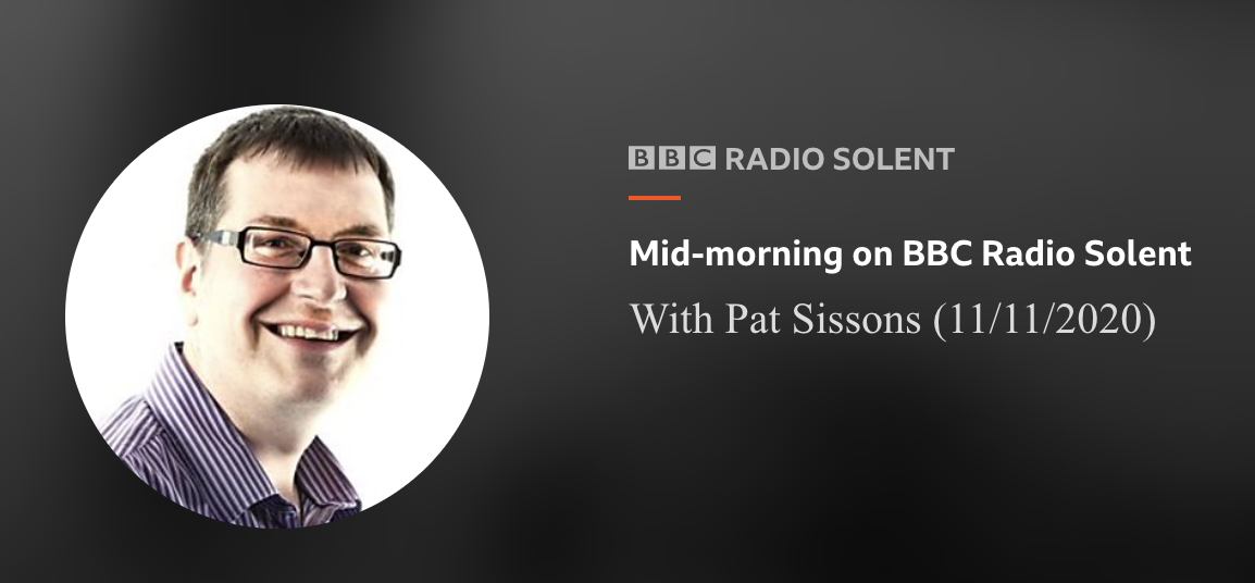BBC Radio Solent Interview Elliott Hasler on Armistice Day