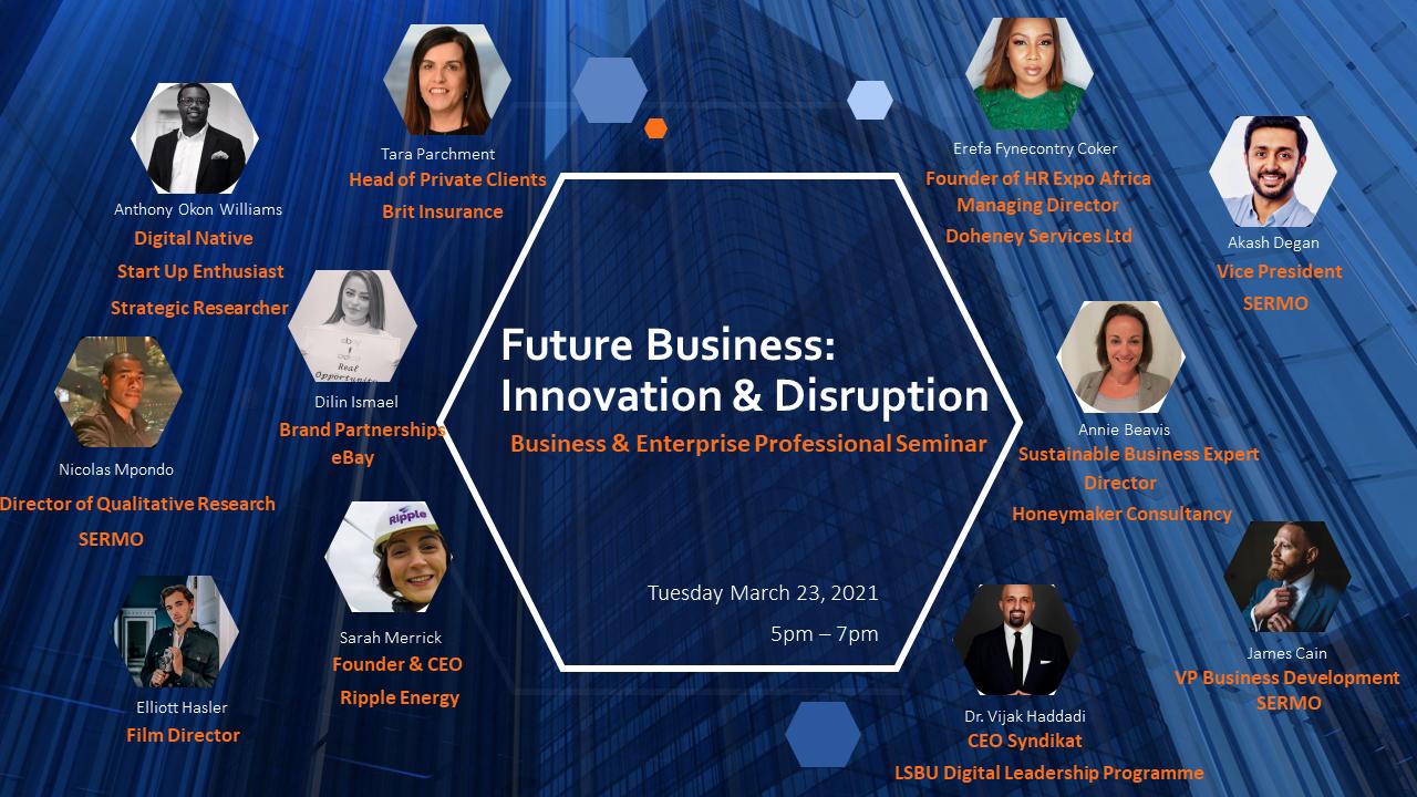 Elliott Hasler Invited to Speak at London South Bank Uni 'Future Business' Presentation