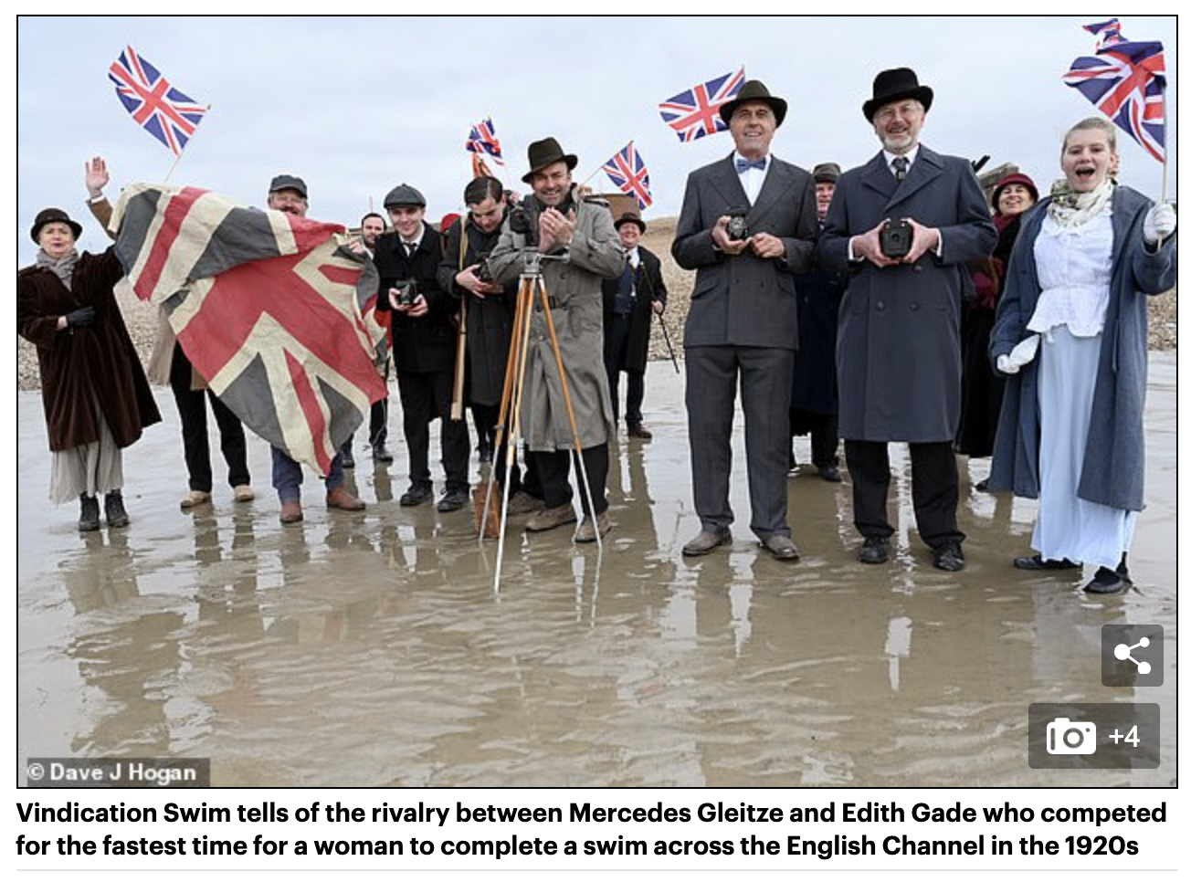Daily Mail Feature: Battle of the beach belles: New movie tells 1920s saga of two women who competed to swim the Channel